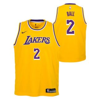 Los Angeles Lakers Nike NBA Icon Edition Swingman Jersey Lonzo Ball Youth