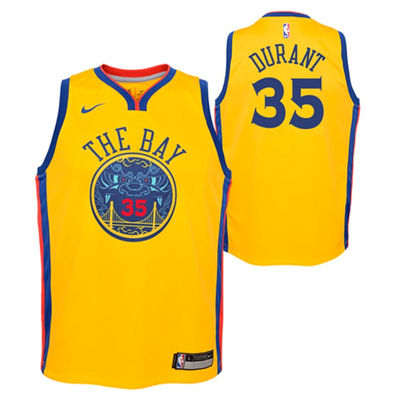 75996d019 Golden State Warriors Nike NBA City Edition Swingman Jersey Kevin Durant  Youth