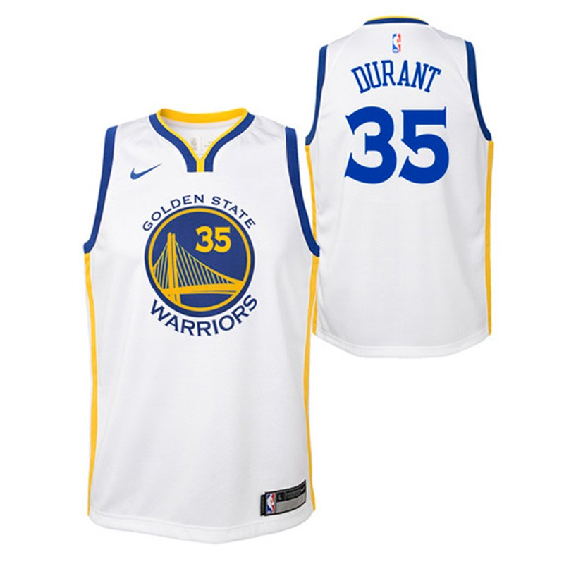 90fc25251d9 Golden State Warriors Nike NBA Association Edition Swingman Jersey Kevin  Durant Youth