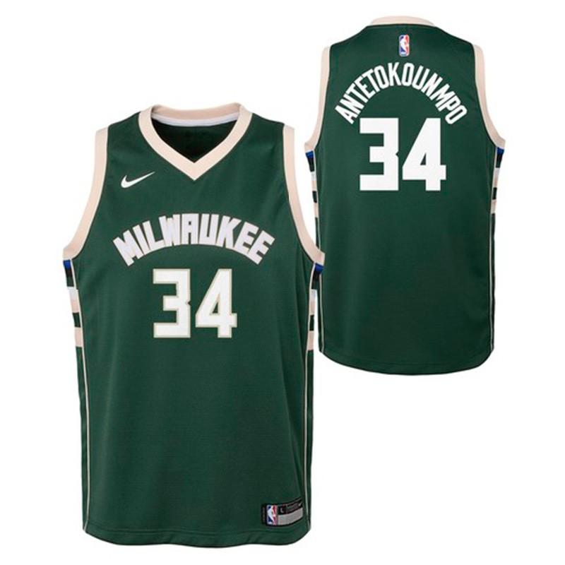 good 357db c5b2d Milwaukee Bucks Nike NBA Icon Swingman Jersey Giannis Antetokounmpo Niño/a