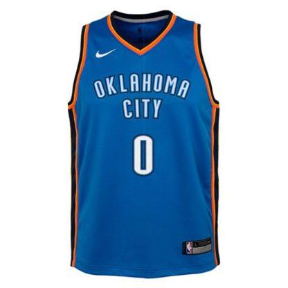 Oklahoma City Thunder Nike NBA Icon Edition Swingman Jersey Russell Westbrook Youth