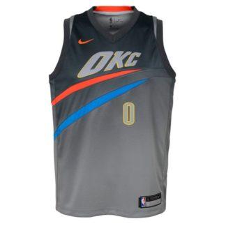 Oklahoma City Thunder Nike NBA City Edition Swingman Jersey Russell Westbrook Youth