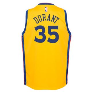 Golden State Warriors Nike NBA City Edition Swingman Jersey Kevin Durant Youth