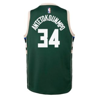 Milwaukee Bucks Nike NBA Icon Swingman Jersey Giannis Antetokounmpo Youth