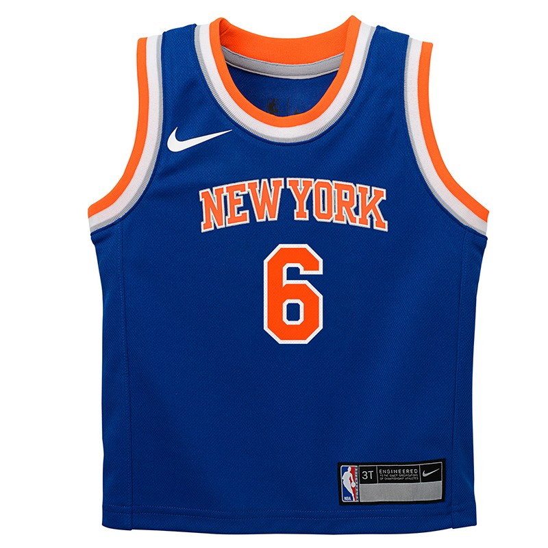 new arrival 59aaf 35cc0 New York Knicks Nike Icon Edition Swingman Jersey Kristaps Porzingis Niño/a