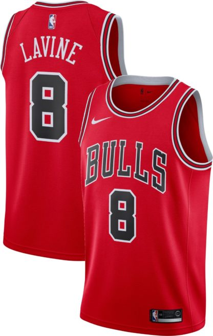 Chicago Bulls Nike NBA Connected Icon Edition Swingman Jersey Zach Lavine Adult