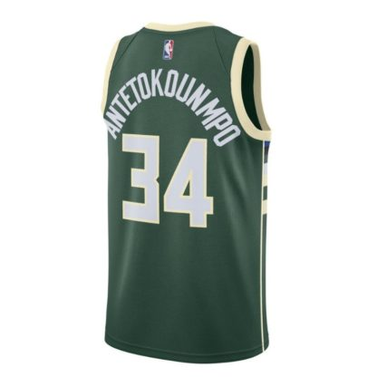 Milwaukee Bucks Nike NBA Connected Icon Edition Swingman Jersey Giannis Antetokounmpo Adult