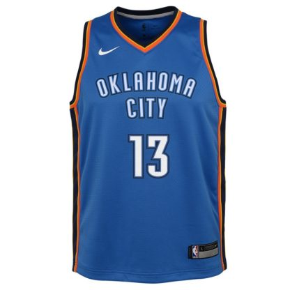 Oklahoma City Thunder Nike NBA Icon Edition Swingman Jersey Paul George Youth