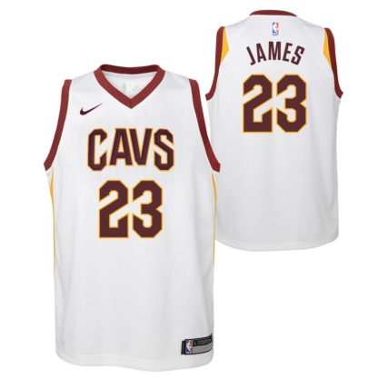 Cleveland Cavaliers Nike NBA Association Edition Swingman Jersey LeBron James Youth