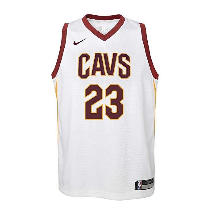 perecer Recomendado caja de cartón  Camiseta Nike NBA para adolescente Swingman Cleveland Cavaliers Lebron  James.