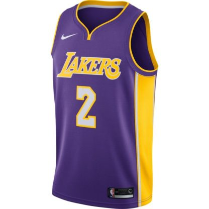 Los Angeles Lakers Nike NBA Connected Statement Edition Swingman Jersey Lonzo Ball Adult