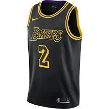 Los Angeles Lakers Nike NBA Connected Mamba Edition Swingman Jersey Lonzo Ball Adult