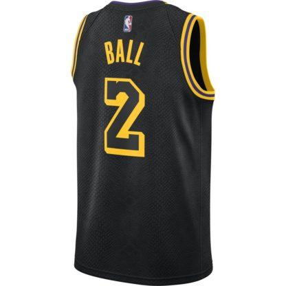 Los Angeles Lakers Nike NBA Connected Mamba Edition Swingman Jersey Lonzo Ball Adult