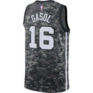 San Antonio Spurs Nike NBA Connected City Edition Swingman Jersey Pau Gasol Adult
