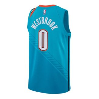 Oklahoma City Thunder Nike NBA Connected City Edition Swingman Jersey Russell Westbrook Adult