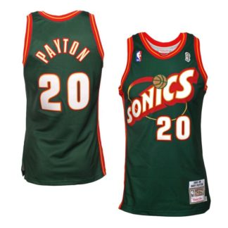 Seattle SuperSonics Gary Payton Mitchell & Ness Road Swingman Jersey 95-96