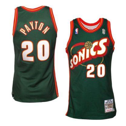 Seattle SuperSonics Gary Payton Mitchell & Ness Road Swingman Jersey 95-96