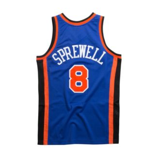 New York Knicks Latrell Sprewell Mitchell & Ness Home Swingman Jersey 98-99