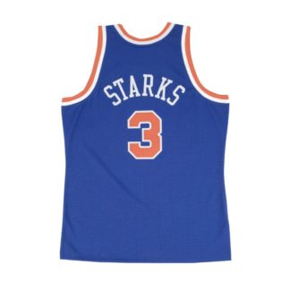 New York Knicks John Starks Mitchell & Ness Home Swingman Jersey 91-92