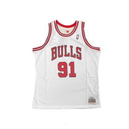 Chicago Bulls Dennis Rodman Mitchell & Ness Home Swingman Jersey 97-98