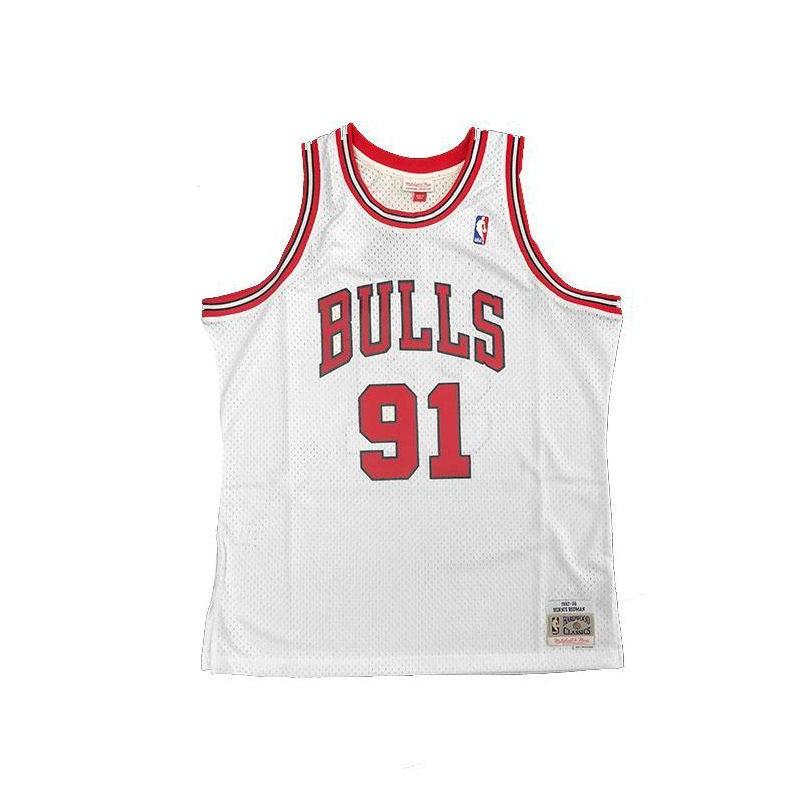 b81431ac0 Chicago Bulls Dennis Rodman Mitchell   Ness Home Swingman Jersey 97 ...