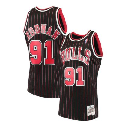 Chicago Bulls Dennis Rodman Mitchell & Ness Home Swingman Jersey 95-96