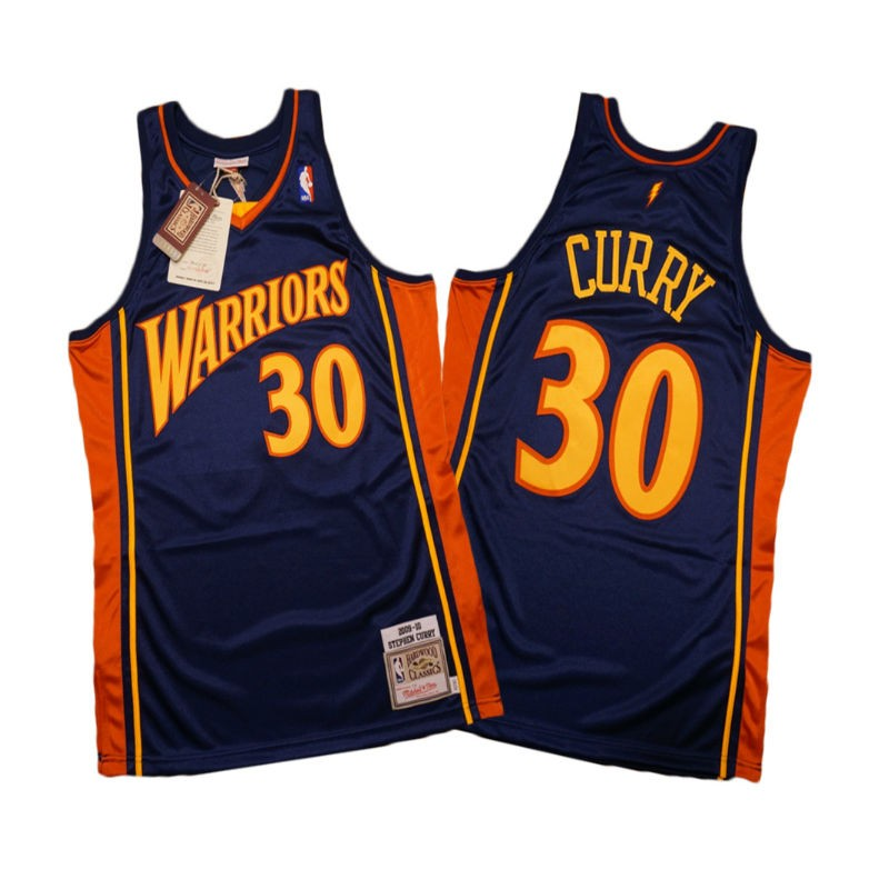 new arrival 75a3f ef2e2 Golden State Warriors Mitchell & Ness Stephen Curry HWC Swingman Jersey  09-10 Adulto