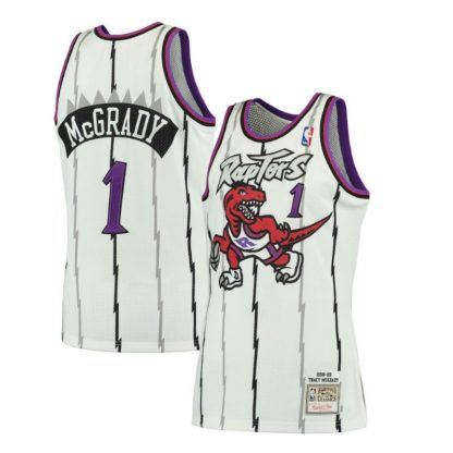 Toronto Rators Tracy McGrady Mitchell & Ness Road Swingman Jersey 98-99