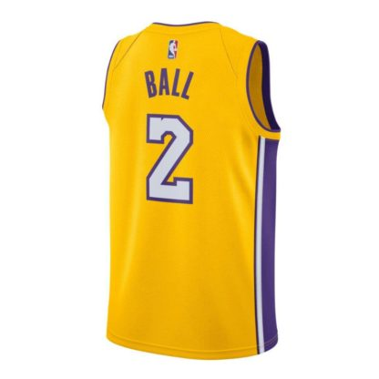 Los Angeles Lakers Nike NBA Connected Icon Edition Swingman Jersey Lonzo Ball Adult