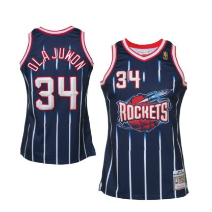 Rockhets Hakeem Olajuwun Mitchell&Ness Swingman Jersey 1996-97