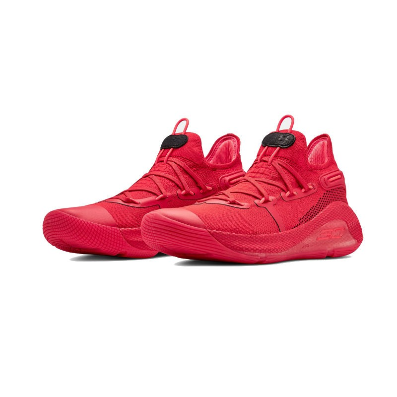 f17f51eee15a New 2019 Under Armour Curry 6 Low Cushioning Basketball Shoes Black   Red