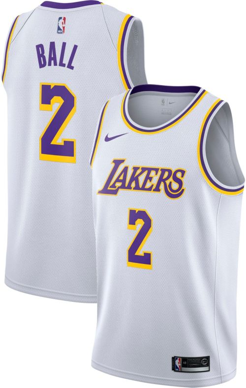 promo code a4f3e 8dd0b Los angeles lakers nike nba icon edition swingman jersey lonzo ball niño/a