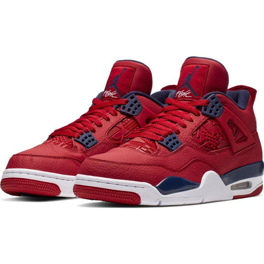 jordan air 4 en rojo